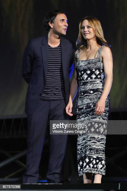 Vanessa Paradis and Samuel Benchetrit attend 'Chien' premiere during the 70th Locarno Film Festival on August 7 2017 in Locarno Switzerland