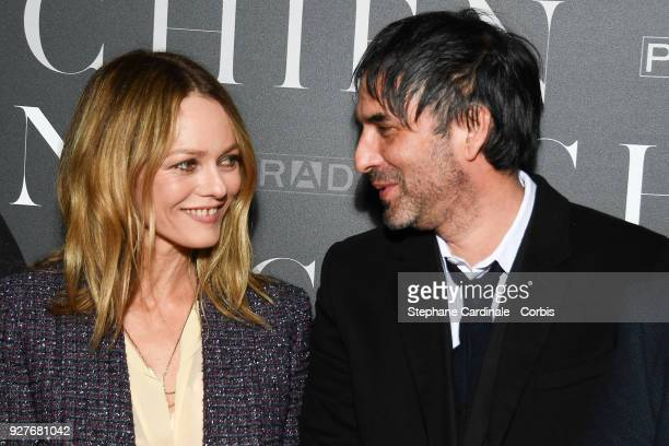 Vanessa Paradis and Samuel Benchetrit attend the 'Chien' Paris Premiere at Mk2 Bibliotheque on March 5 2018 in Paris France