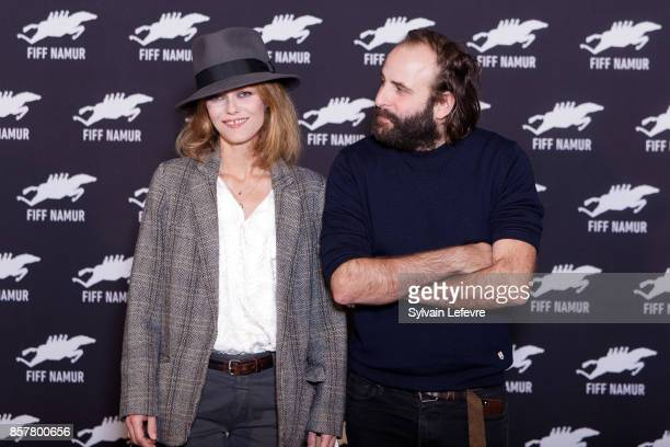 Vanessa Paradis and Vincent Macaigne attend 32nd Namur International FrenchLanguage Film on October 5 2017 in Namur Belgium