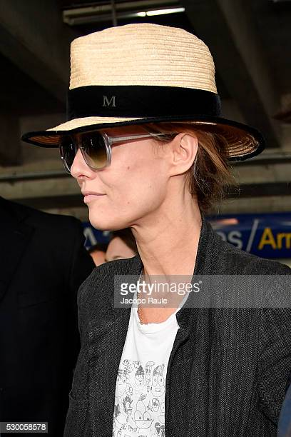 Vanessa Paradis arrives at Nice airport during the annual 69th Cannes Film Festival at Nice Airport on May 10 2016 in Nice France