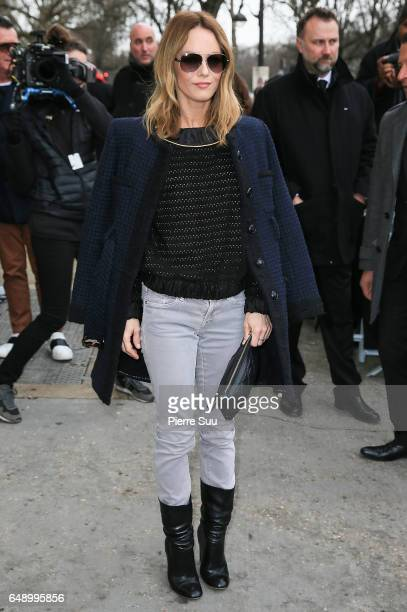 Vanessa Paradis arrives at the Chanel show as part of the Paris Fashion Week Womenswear Fall/Winter 2017/2018 on March 7 2017 in Paris France