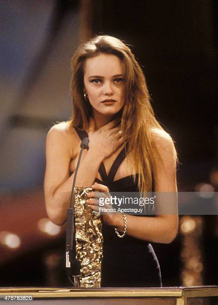 Vanessa Paradis at the Cesars Ceremony in 1990