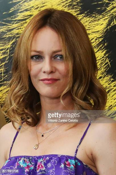 Vanessa Paradis attends 'Chien' photocall during the 'Chien' photocall during the 70th Locarno Film Festival on August 7 2017 in Locarno Switzerland