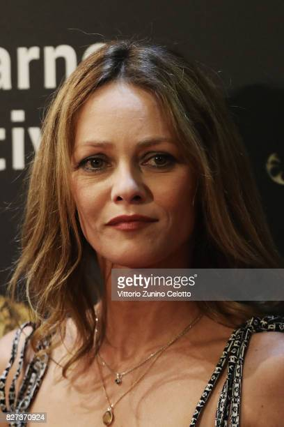 Vanessa Paradis attends 'Chien' premiere during the 70th Locarno Film Festival on August 7 2017 in Locarno Switzerland