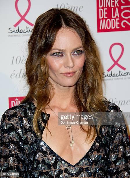 Vanessa Paradis attends Sidaction Gala Dinner 2012 at Pavillon d'Armenonville on January 26 2012 in Paris France