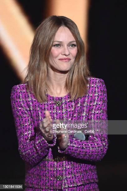 "Vanessa Paradis attends the 36th ""Victoires De La Musique"" Award Ceremony at La Seine Musicale on February 12, 2021 in Boulogne-Billancourt, France."