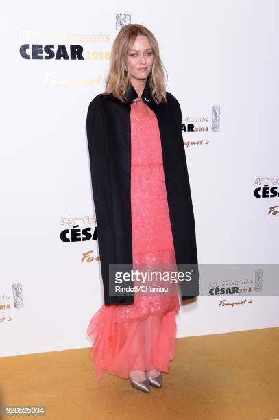 Vanessa Paradis attends the ceremony dinner at Cesar Film Awards 2018 at Le Fouquet's on March 2 2018 in Paris France
