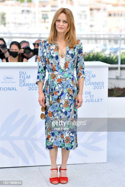 """Vanessa Paradis attends the """"Cette Musique Ne Joue Pour Personne """" photocall during the 74th annual Cannes Film Festival on July 10, 2021 in Cannes,..."""
