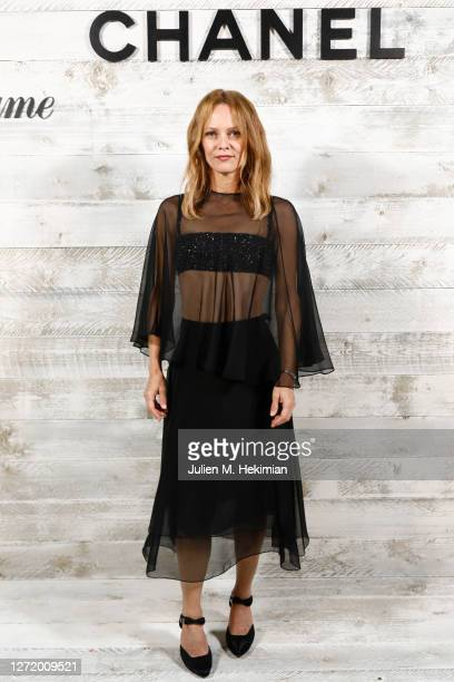 Vanessa Paradis attends the Chanel and Madame Figaro Dinner In Honor Of The 46th Anniversary Of The Festival Of American Cinema on September 11, 2020...