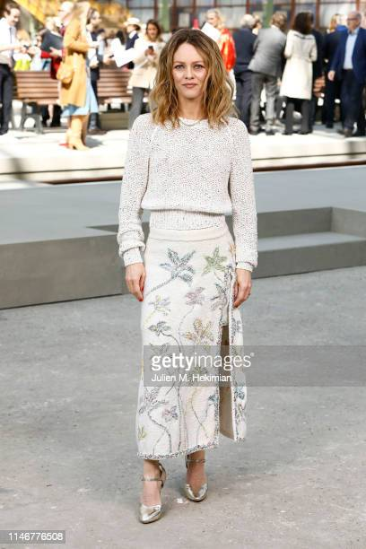 Vanessa Paradis attends the Chanel Cruise 2020 Collection Photocall In Le Grand Palais on May 03 2019 in Paris France