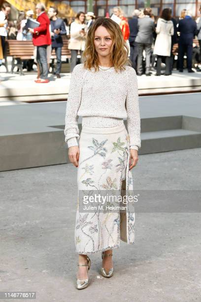 Vanessa Paradis attends the Chanel Cruise 2020 Collection : Photocall In Le Grand Palais on May 03, 2019 in Paris, France.
