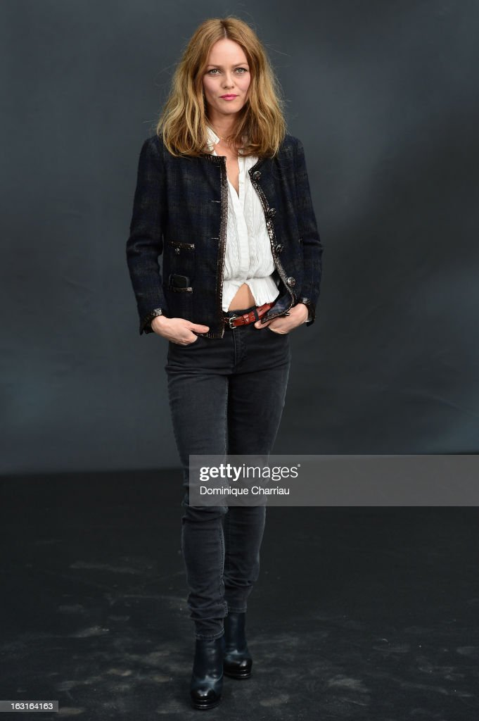 Vanessa Paradis attends the Chanel Fall/Winter 2013 Ready-to-Wear show as part of Paris Fashion Week at Grand Palais on March 5, 2013 in Paris, France.