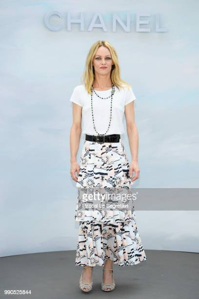Vanessa Paradis attends the Chanel Haute Couture Fall Winter 2018/2019 show as part of Paris Fashion Week on July 3 2018 in Paris France