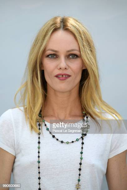 Vanessa Paradis attends the Chanel Haute Couture Fall Winter 2018/2019 show as part of Paris Fashion Week on July 3, 2018 in Paris, France.
