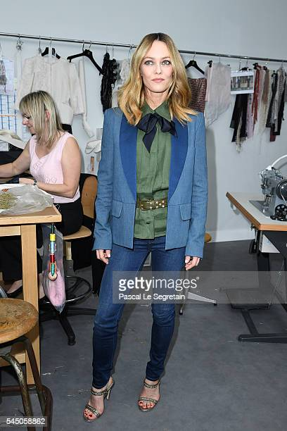 Vanessa Paradis attends the Chanel Haute Couture Fall/Winter 20162017 show as part of Paris Fashion Week on July 5 2016 in Paris France