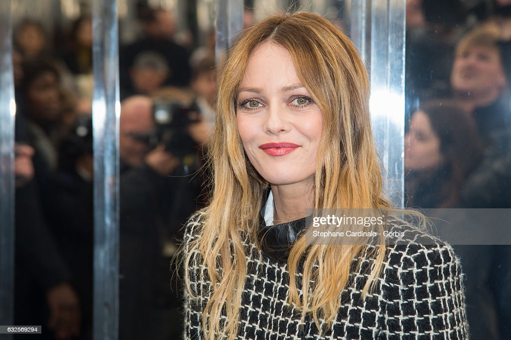 Vanessa Paradis attends the Chanel Haute Couture Spring Summer 2017 show as part of Paris Fashion Week on January 24, 2017 in Paris, France.