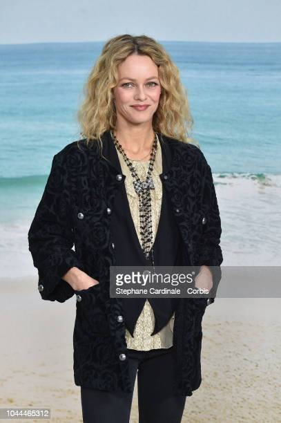 Vanessa Paradis attends the Chanel show as part of the Paris Fashion Week Womenswear Spring/Summer 2019 on October 2, 2018 in Paris, France.