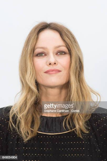 Vanessa Paradis attends the Chanel show as part of the Paris Fashion Week Womenswear Fall/Winter 2017/2018 on March 7, 2017 in Paris, France.
