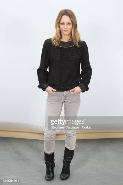 Vanessa Paradis attends the Chanel show as part of the Paris Fashion Week Womenswear Fall/Winter 2017/2018 on March 7 2017 in Paris France