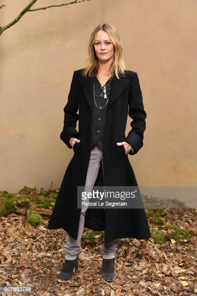 Vanessa Paradis attends the Chanel show as part of the Paris Fashion Week Womenswear Fall/Winter 2018/2019 at Le Grand Palais on March 6 2018 in...