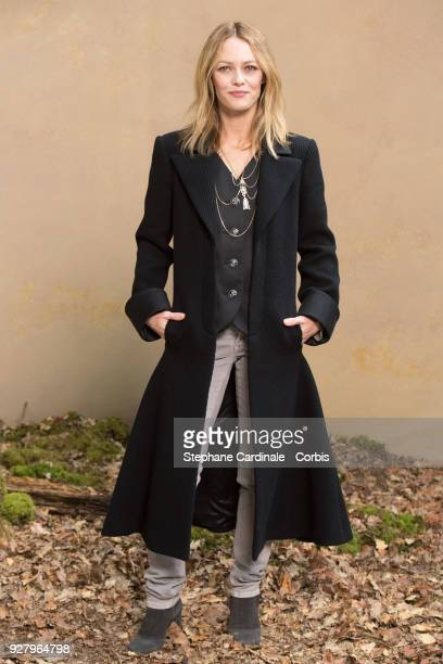 Vanessa Paradis attends the Chanel show as part of the Paris Fashion Week Womenswear Fall/Winter 2018/2019 on March 6 2018 in Paris France