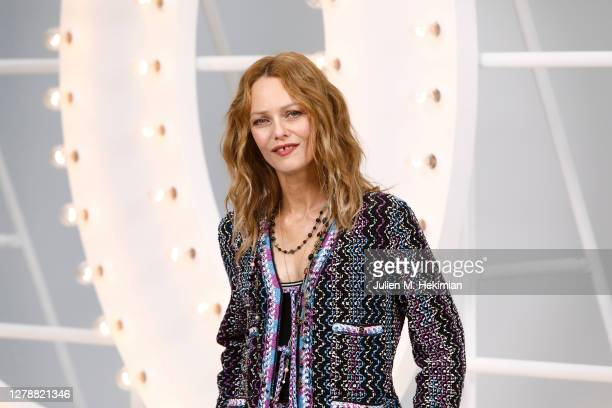 Vanessa Paradis attends the Chanel Womenswear Spring Summer 2021 at Grand Palais on October 06, 2020 in Paris, France.