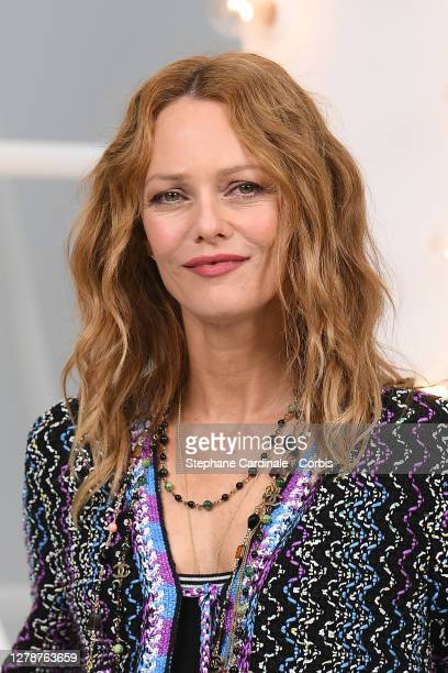 Vanessa Paradis attends the Chanel Womenswear Spring/Summer 2021 show as part of Paris Fashion Week on October 06, 2020 in Paris, France.