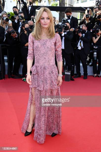 """Vanessa Paradis attends the """"De Son Vivant """" screening during the 74th annual Cannes Film Festival on July 10, 2021 in Cannes, France."""