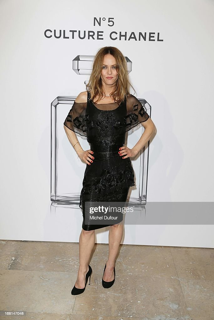 Vanessa Paradis attends the 'No5 Culture Chanel' Exhibition - Photocall at Palais De Tokyo on May 3, 2013 in Paris, France.