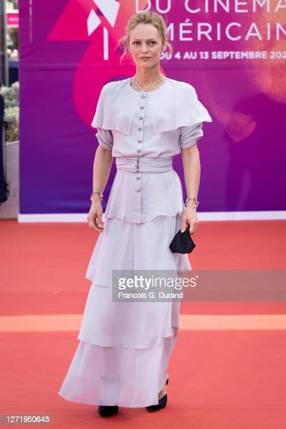 "Vanessa Paradis attends the ""Rouge"" Premiere at the 46th Deauville American Film Festival on September 11, 2020 in Deauville, France."