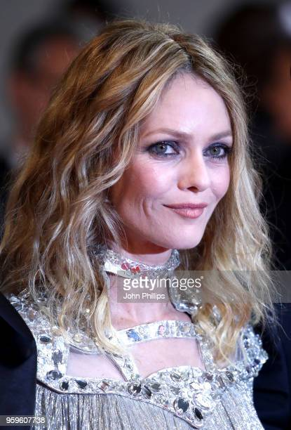 Vanessa Paradis attends the screening of 'Knife Heart ' during the 71st annual Cannes Film Festival at Palais des Festivals on May 17 2018 in Cannes...
