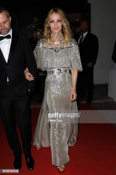 Vanessa Paradis is seen at 'Le Majestic' hotel during the 71st annual Cannes Film Festival at on May 17 2018 in Cannes France