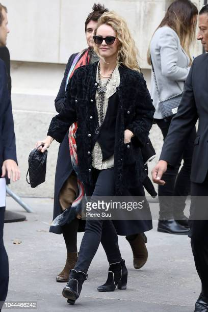 Vanessa Paradis is seen leaving the Chanel show as part of the Paris Fashion Week Womenswear Spring/Summer 2019 on October 2, 2018 in Paris, France.