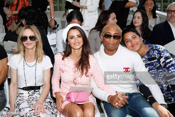 Vanessa Paradis Penelope Cruz Pharrell Williams and his wife Helen Lasichanh attend the Chanel Haute Couture Fall Winter 2018/2019 show as part of...
