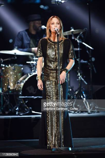 Vanessa Paradis performs during the 34th 'Les Victoires De La Musique' Show at La Seine Musicale on February 08 2019 in BoulogneBillancourt France