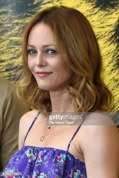 Vanessa Paradis pose during the 'Chien' photocall during the 70th Locarno Film Festival on August 7 2017 in Locarno Switzerland
