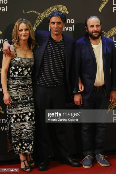 Vanessa Paradis Samuel Benchetrit Vincent Macaigne attend 'Chien' premiere during the 70th Locarno Film Festival on August 7 2017 in Locarno...