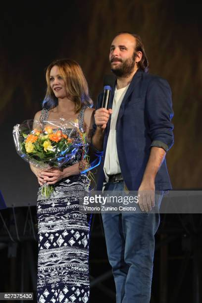 Vanessa Paradis Vincent Macaigne attend 'Chien' premiere during the 70th Locarno Film Festival on August 7 2017 in Locarno Switzerland