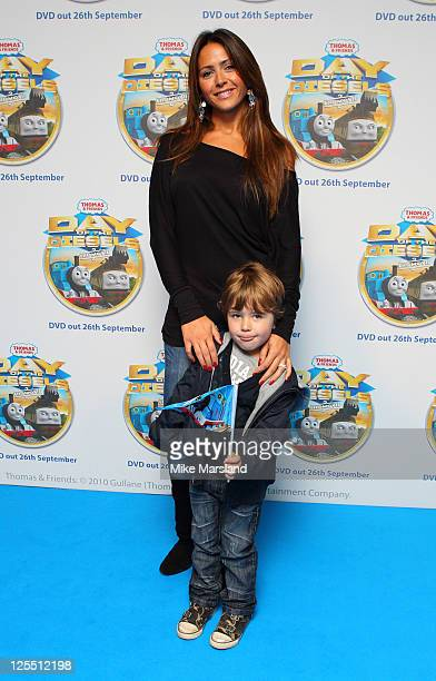 Vanessa Perroncel attends the premiere of 'Thomas Friends Feature Day of the Diesels' at Vue Leicester Square on September 17 2011 in London England