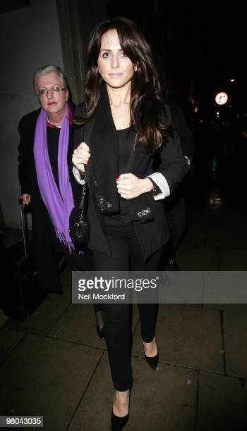 Vanessa Perroncel Leaves Court After Maintenance Hearing With Wayne Bridge on March 25 2010 in London England