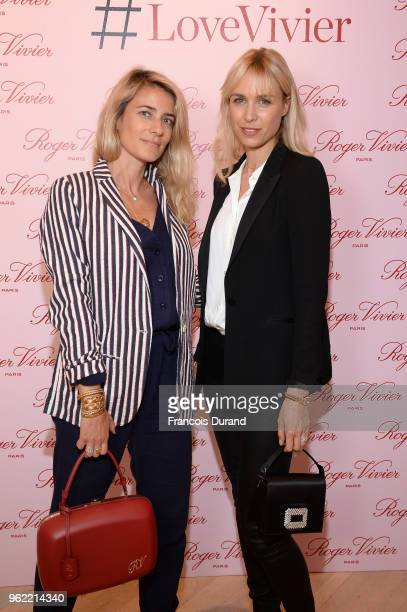 Vanessa Pinoncely and Anne Sophie Mignaux attend Roger Vivier '#LoveVivier' Book Launch Cocktail on May 24 2018 in Paris France