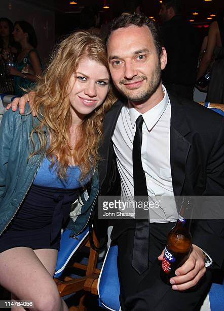 Vanessa Pracer and director Jeff Vespa attend a party for director Jennifer DeLia's new film I Am An Island hosted by Pink Elephant and Bud Light on...