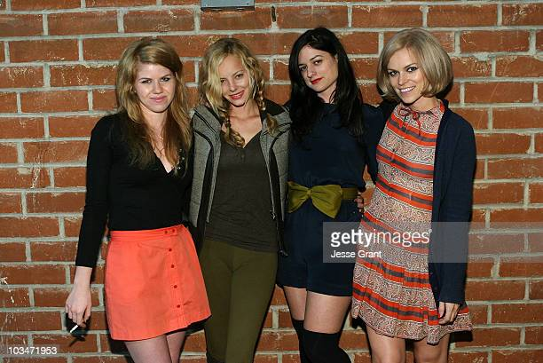 Vanessa Prager Bijou Phillips Ilaria Urbinati and Alex Prager attend the Confederacy Hearts Rag and Bone cocktail party held at Confederacy on...