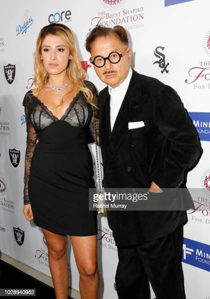 Vanessa Rano and Michael Chow arrive at The Brent Shapiro Foundation Summer Spectacular at The Beverly Hilton Hotel on September 7 2018 in Beverly...