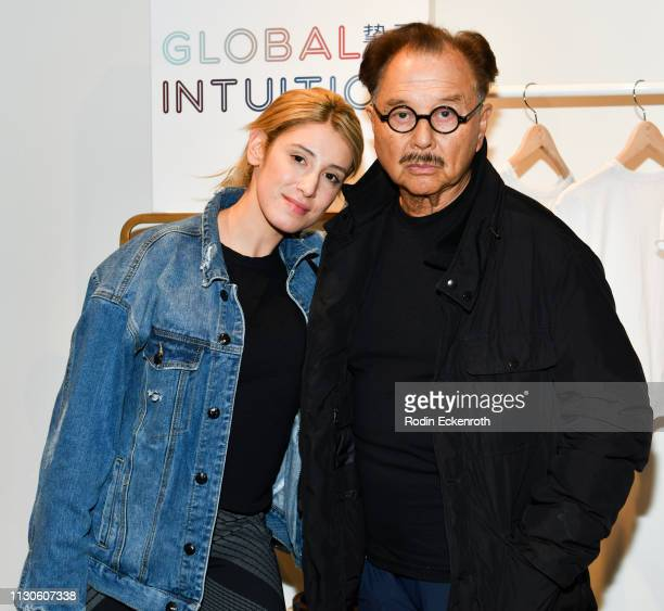 Vanessa Rano and Michael Chow pose for portrait at the Global Intuition new collection launch at Fred Segal on February 18 2019 in West Hollywood...