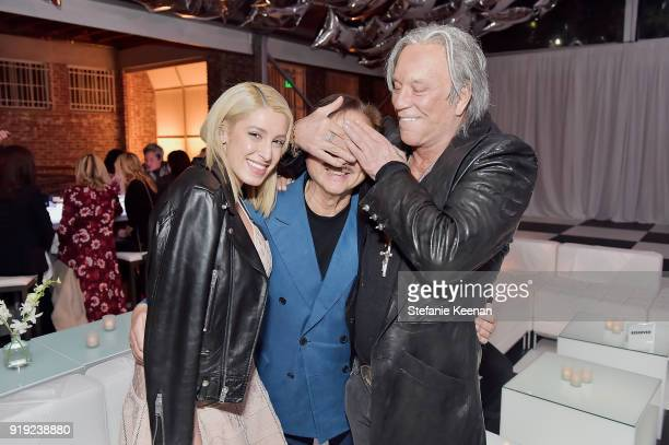 Vanessa Rano Michael Chow and Micky Rourke attend Mr Chow 50 Years on February 16 2018 in Vernon California