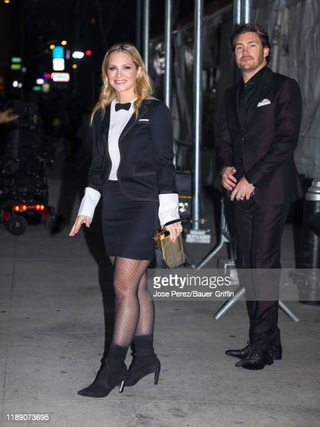 Vanessa Ray and Landon Beard are seen on December 16 2019 in New York City