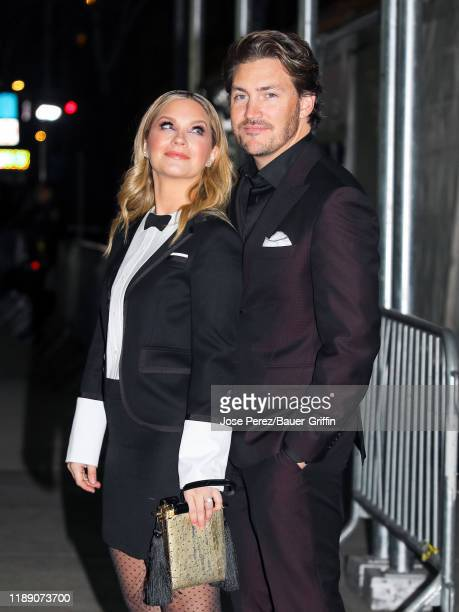 Vanessa Ray and Landon Beard are seen on December 16 2019 in New York City