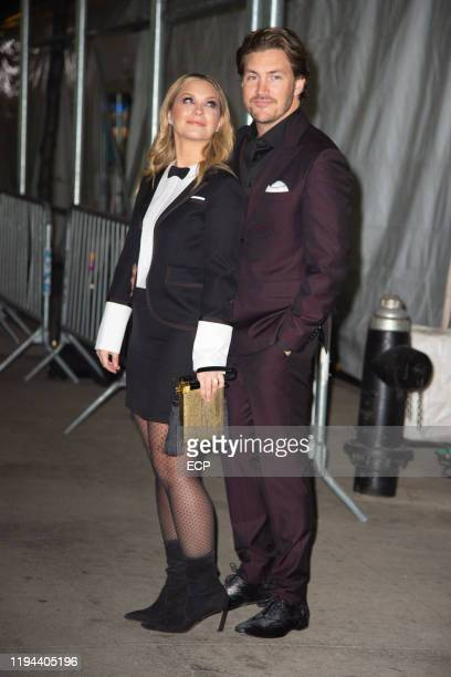 Vanessa Ray and Landon Beard at the CATS premiere on December 16 2019 in New York City
