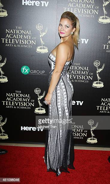 Vanessa Ray arrives at the 41st Annual Daytime Emmy Awards held at The Beverly Hilton Hotel on June 22 2014 in Beverly Hills California
